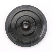 parts unlimited black idler wheel w bearing 0411677 snowmobile
