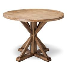 Rustic Round Dining Table Dining Room Rustic With Driftwood French - Kitchen table round