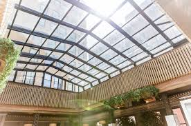restaurant with retractable skylight roof highlights arrival of
