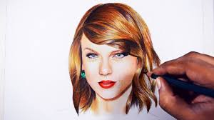taylor swift colored pencil drawing youtube