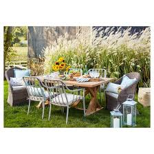 Outdoor Dining Room Furniture Morie Farmhouse Wood Outdoor Dining Table Threshold Target
