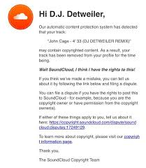 a dj claims that soundcloud is accusing him of copyright