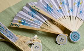 fan favors favor friday paper fans weddings ideas from evermine