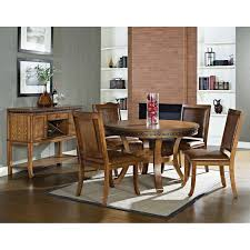 five piece dining room sets ashbrook 5 piece round dining set nail heads brown oak finish