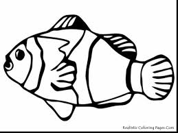 remarkable fish clip art coloring page with fish drawing coloring