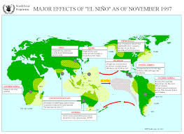 Java World Map by Major Effects Of El Nino World Reliefweb