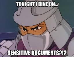 Shredding Meme - shredder