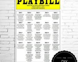 playbill wedding program playbill template etsy