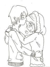cute sketch color couple image cute couple coloring pages