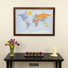World Map With Pins by World Travel Map With Pins Blue Oceans On Canvas Push Pin Travel