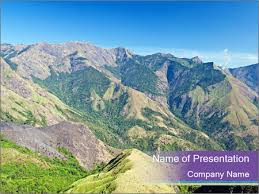 mountains in india powerpoint template u0026 backgrounds id 0000031401
