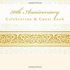 50th anniversary guest book personalized 50th anniversary celebration guest book with photo pages 50th