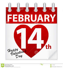 valentine s valentine s day calendar stock vector illustration of love 17716584