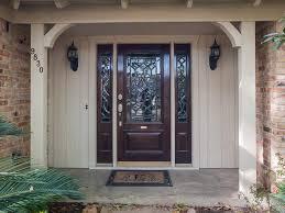 door design wooden halff glass entry doors with side lights plus