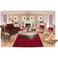 Burgundy Living Room Set by 179 Chocolate Burgundy U0026 Beige Living Room Polyvore