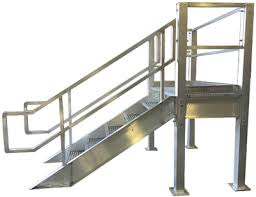 aluminum prefabricated stair landings heavy duty structural