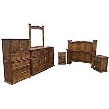 rustic bedroom sets amazon com king size mansion rustic bedroom set free delivery 6 pcs