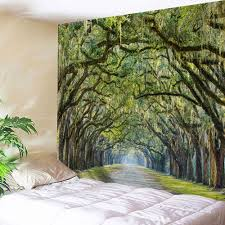 home decor tapestry home decor forest tree wall hanging tapestry green w inch l inch
