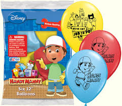 handy manny printed latex balloons 6pk parties4kids