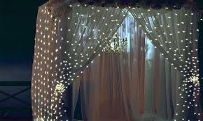 10ft 300 led warm white string curtain light groupon