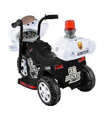 amazon com kid motorz lil patrol in black and white toys u0026 games