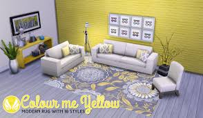 Buy Modern Rugs by Colour Me Yellow U0027 Modern Rugs By Peacemaker Teh Sims