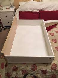 4 ikea malm underbed storage drawers with raisers fit low malm