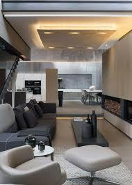 canapé gris foncé design interieur idée peinture salon neutre cheminée canapé gris