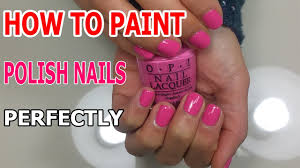 how to paint polish nails perfectly manicure regal nails