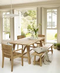 wooden dining table with bench seats with design inspiration 13182