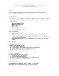 Food Service Resume Sample Download Restaurant Resume Haadyaooverbayresort Com