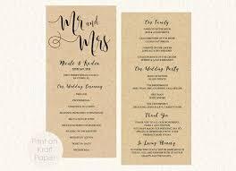 tea length wedding programs templates free 19 best wedding fan programs images on fan programs