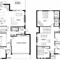 new american floor plans home architecture floor plan story modern house plans with