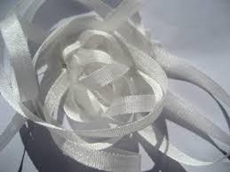 white silk ribbon yli silk ribbon 4mm 001 white piecemakers country
