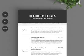 Two Page Resume Header Two Pages Classic Resume Cv Template Resume Templates Creative