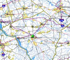 map of lancaster pa penn b glazier attorney and counsellor at