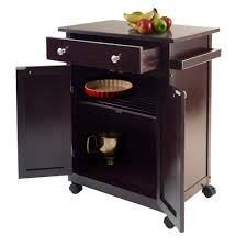 kitchen cart with cabinet amazon com winsome savannah kitchen cart bar u0026 serving carts