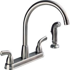 peerless kitchen faucets shop peerless stainless 2 handle high arc deck mount kitchen