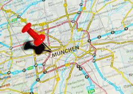 Munich Germany Map by London Uk 13 June 2012 Munchen Germany Marked With Red