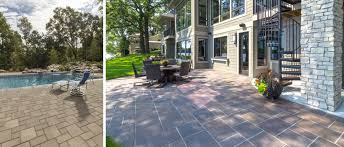 Interlocking Slate Patio Tiles by Pavers Rochester Concrete Products