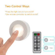 solled wireless led puck lights with remote control battery