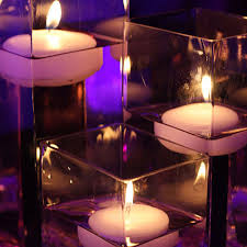 used wedding centerpieces wedding centerpiece floating candles sets of 6