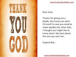 parent ministry sermons thank you god for my