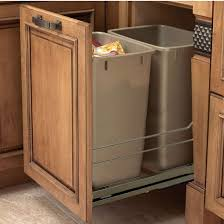 Kitchen Cabinet Waste Bins by Hafele Built In Double Pull Out Bottom Mount Waste Bin With Soft