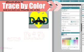 color tool how to use silhouette studio v4 trace by color silhouette school