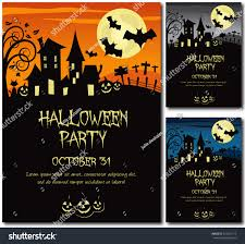 halloween party invitation poster card illustration stock vector