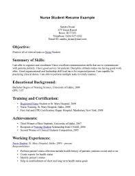 best resume format for nurses sle resume nursing student no experience exles assistant