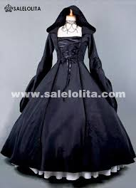2015 new black retro long sleeve gothic victorian period medieval