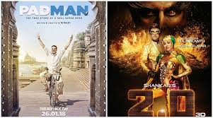 akshay kumar u0027s padman to release on same weekend as 2 0 will