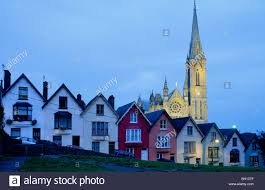 Painted Houses Europe Great Britain Ireland Co Cork Painted Houses In The